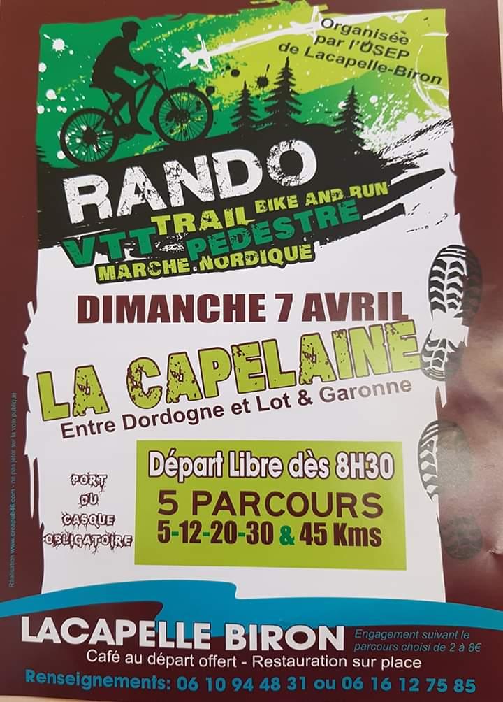 Infos rando Lacapelle